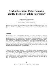Michael Jackson: Color Complex and the Politics of White Supremacy