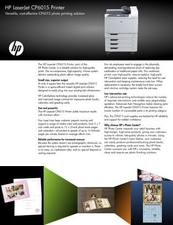HP LaserJet CP6015 Printer - Hewlett Packard