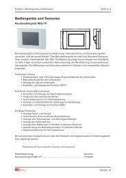 Bediengeräte und Sensoren - Drexel und Weiss