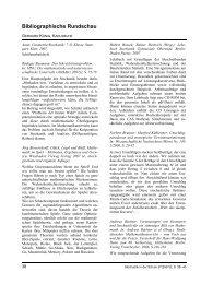Bibliographische Rundschau - Stochastik in der Schule