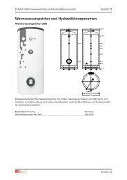 Warmwasserspeicher und Hydraulikkomponenten - Drexel und Weiss
