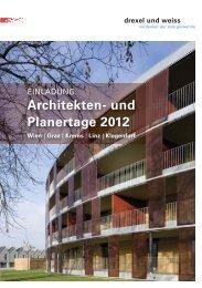 architekten- und planertage_Wien_2012.indd - Drexel und Weiss