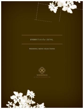 View our 2012 Wedding Menus - Rancho Bernardo Inn