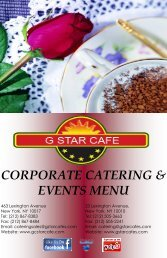 CORPORATE CATERING & EVENTS MENU - Grand Central Star Cafe