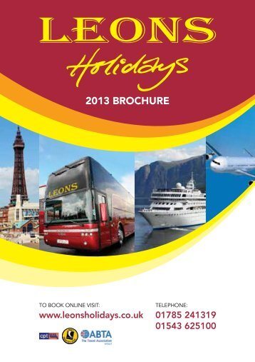 2013 BROCHURE - Leons Holidays