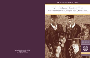 The Educational Effectiveness of Historically Black Colleges and ...