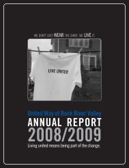 annual report 2008/2009 - United Way of Rock River Valley