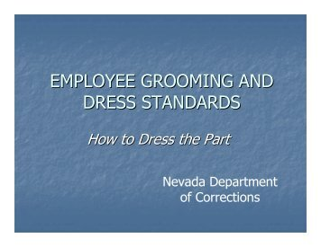 officer grooming standards nevada department of corrections