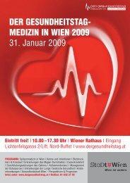 DER GESUNDHEITSTAG- MEDIZIN IN WIEN 2009 31. Januar 2009