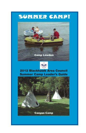 2012 Blackhawk Area Council Summer Camp Leader's Guide
