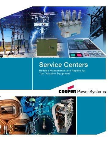 B100-04009 Service Centers Brochure - Cooper Industries