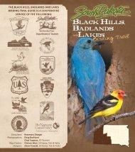 Black Hills, Badlands and Lakes Birding Trail - South Dakota ...