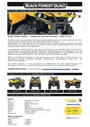 BLACK FOREST QUAD ® - Can-Am Outlander 650R XT (G2)