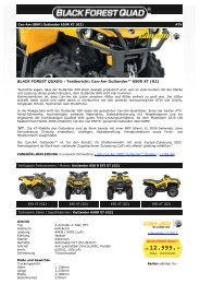 BLACK FOREST QUAD ® - Can-Am Outlander 650R XT (G2)
