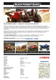 BLACK FOREST QUAD ® - Yamaha Grizzly 300