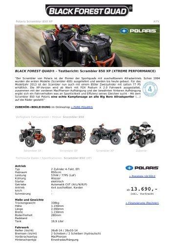 BLACK FOREST QUAD ® - Polaris Scrambler 850
