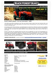 BLACK FOREST QUAD ® - Can-Am Commander 800R EFI (XT) UTV