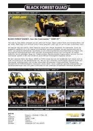 Black Forest Quad - Can-Am Commander 800R EFI (XT)