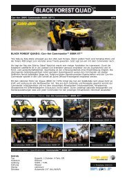 Black Forest Quad - Can-Am Commander 800R EFI (XT)