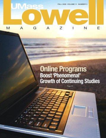 Online Programs - University of Massachusetts Lowell