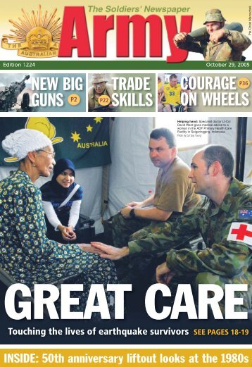 new big guns trade skills courage on wheels - Department of Defence
