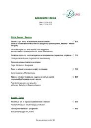 Restaurant Speisekarte doc á la carte Frühling 2012_Russisch