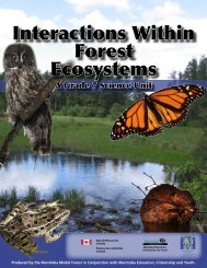 Interactions Within Forest Ecosystems - Manitoba Forestry Association