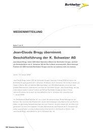 Jean-Claude Bregy übernimmt Geschäftsführung der K. Schweizer AG