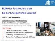 2050 AEE Effiz. 2030 SATW 2030 2030 TWh/a - A EE - Agentur für ...