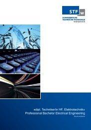 «dipl. Techniker/in HF, Elektrotechnik» Professional Bachelor ...