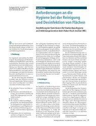 Anforderungen an die Hygiene bei der Reinigung und ... - RKI