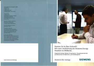 Lokale Berufsinformation - Siemens