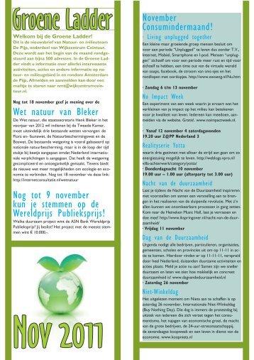 Wet natuur van Bleker Nog tot 9 november kun je stemmen op de ...