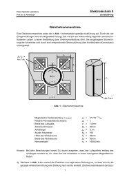 Elektrotechnik II Gleichstrommaschine - EEH