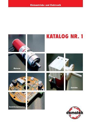 KATALOG NR. 1 - dematek GmbH & Co. KG