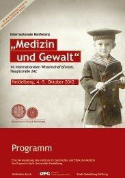 Medizin und Gewalt - Medizinische Fakultät Heidelberg - Universität ...