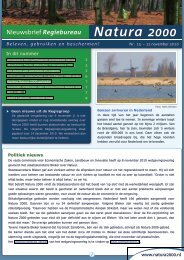15e nieuwsbrief, november 2010 - Natura 2000