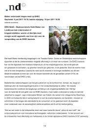 Het plan van staatssecretaris Henk Bleker - Werkgroep Terlinden
