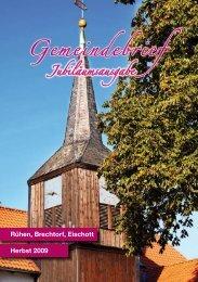 Gemeindebrief - Kirchengemeinden Rühen, Brechtorf und Eischott