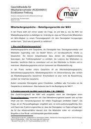 Mitarbeitergespräche - Beteiligungsrechte der MAV - DIAG-MAV ...