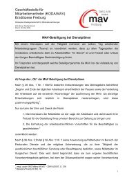 MAV Beteiligung bei Dienstplänen - DIAG MAV