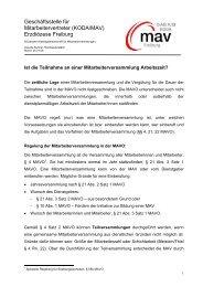 Teilnahme an Mitarbeiterversammlungen - DIAG-MAV Freiburg