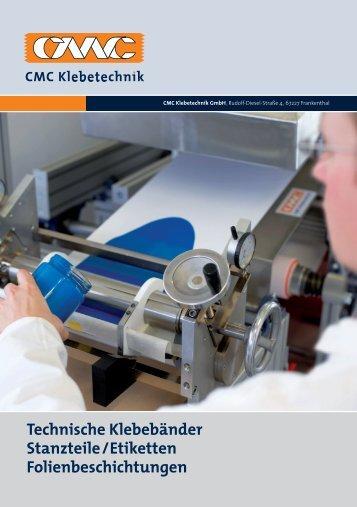 Technische Klebebänder Stanzteile/Etiketten Folienbeschichtungen