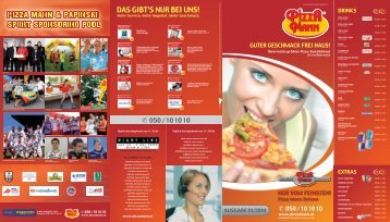 DAS GIBT'S NUR BEI UNS! - Pizza Mann