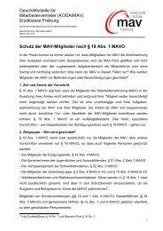 Schutz der MAV-Mitglieder - DIAG-MAV Freiburg