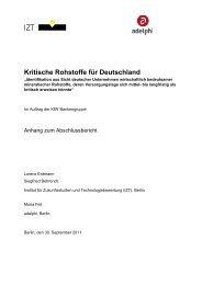 Kritische Rohstoffe für Deutschland - KfW
