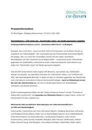 Presseinformation - Deutsches CSR-Forum