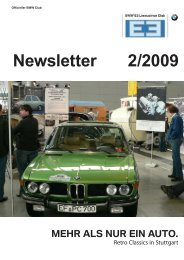 Newsletter 2/2009 - BMW E3-Limousinen Club e.V.
