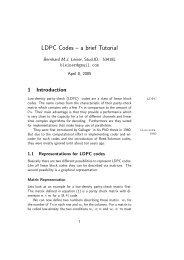 LDPC Codes – a brief Tutorial