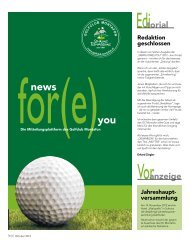 News for(e) you – Oktober 2012 - Golfclub Montafon